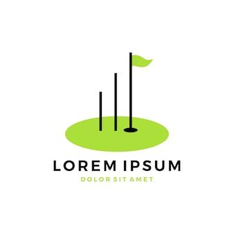 Logotipo do gráfico de treinamento do campo de golfe