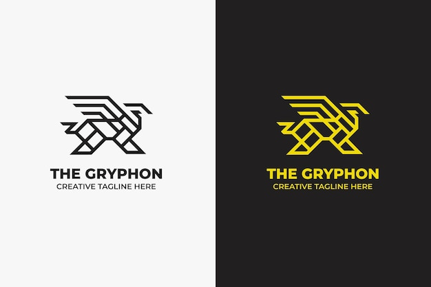 Logotipo do gryphon majestic monoline
