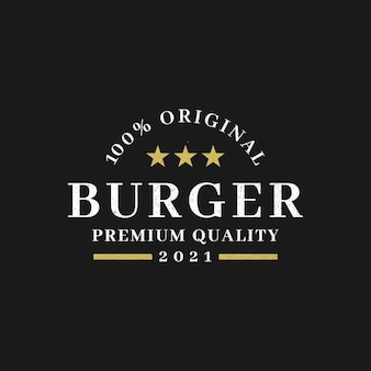 Logotipo do hambúrguer de emblema vintage para restaurante de hambúrguer.