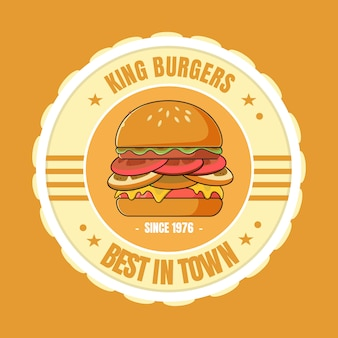 Logotipo do hambúrguer rei