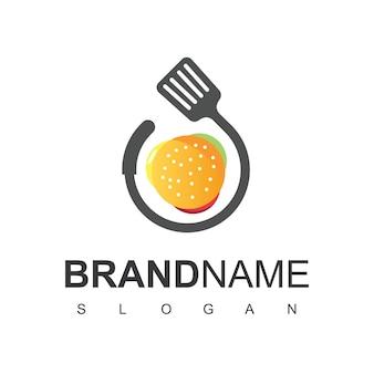 Logotipo do hambúrguer, símbolo de restaurante de fast food