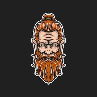 Logotipo do homem da barba