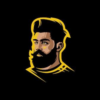 Logotipo do homem rosto para você barbeiro