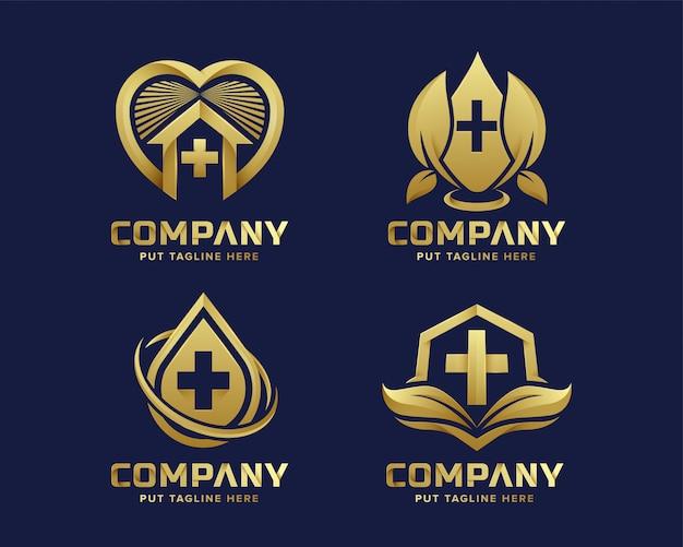 Logotipo do hospital médico modelo para empresa