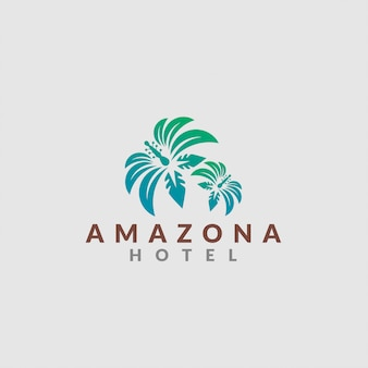 Logotipo do hotel da selva