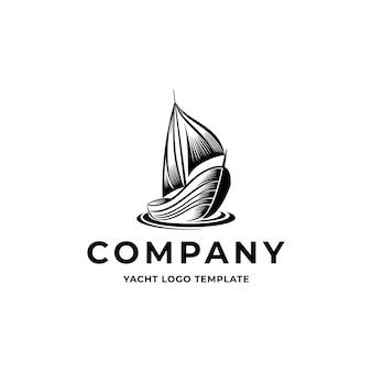 Logotipo do iate do vintage