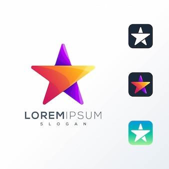 Logotipo do ícone colorido abstrato