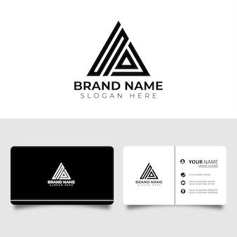 Logotipo do ícone da letra inicial sa com modelo de design de cartão de visita