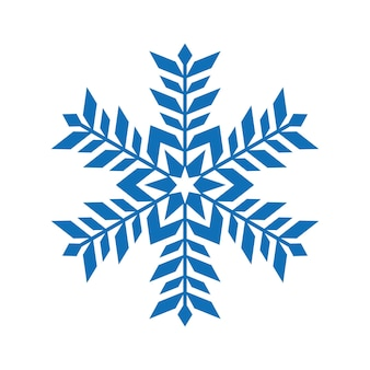 Logotipo do ícone de floco de neve. símbolo de vetor de neve de natal