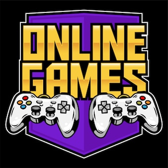 Logotipo do ícone do esporte de gamepads para jogar videogames de fliperama online para jogadores e controlar o jogo.