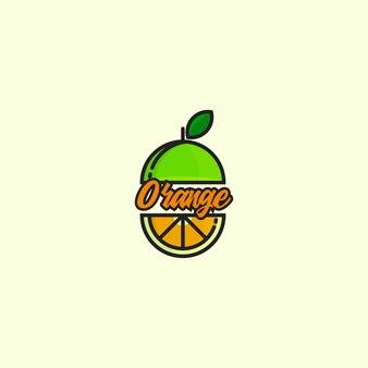 Logotipo do ícone laranja com linha em negrito