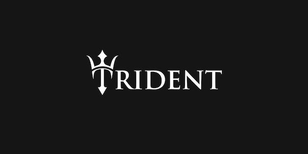 Logotipo do ícone trident neptune poseidon