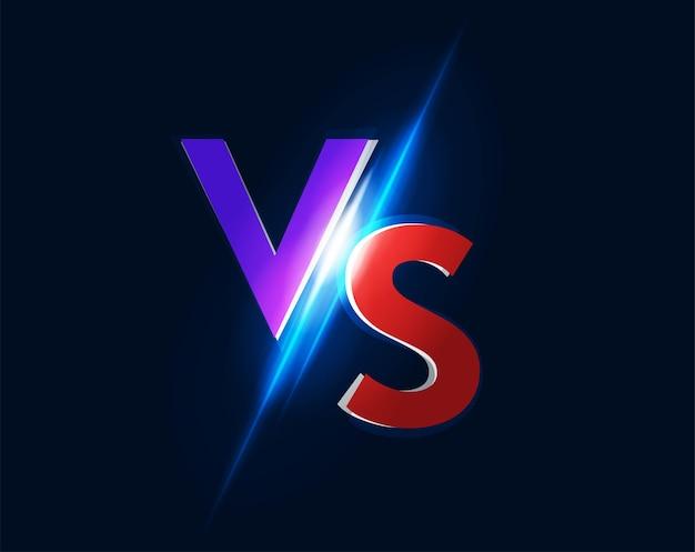 Logotipo do ícone vs versus para jogo de luta