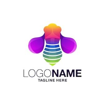 Logotipo do inseto gradiente