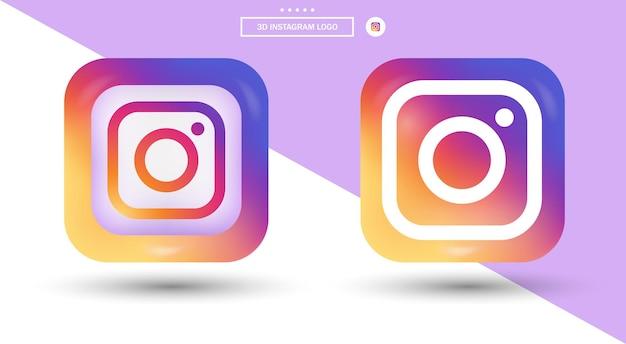 Logotipo do instagram em estilo moderno para ícones de mídia social