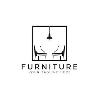 Logotipo do interior de móveis