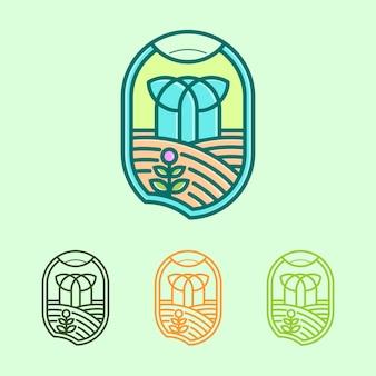Logotipo do jardim sagrado