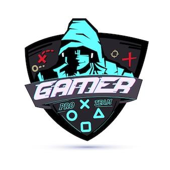 Logotipo do jogador ou conceito de hacker