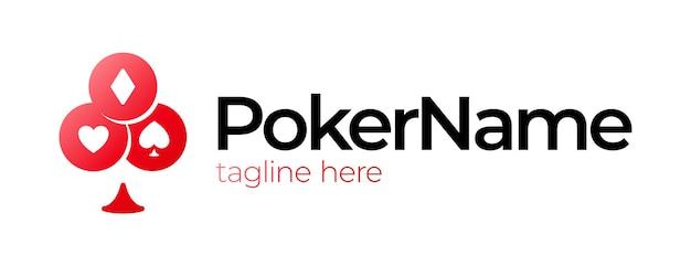 Logotipo do jogo de símbolo de cartão de pôquer.