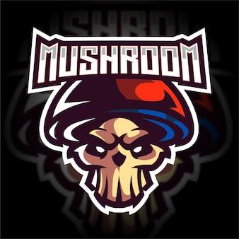 Logotipo do jogo do mascote do cogumelo