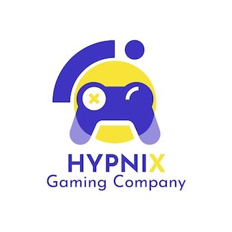 Logotipo do jogo hipnix duotônico moderno