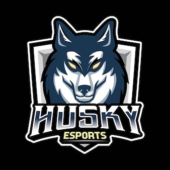 Logotipo do jogo husky dog mascot