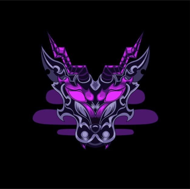 Logotipo do jogo mal mascote dragão