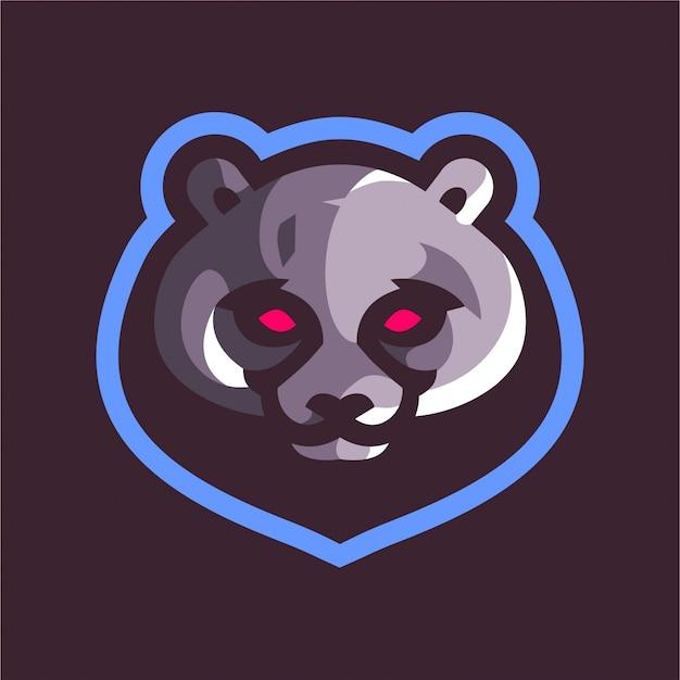 Logotipo do jogo mascote urso