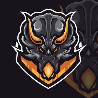 Logotipo do jogo triceratops dinosaur esport