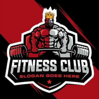 Logotipo do king bodybuilding e ginásio