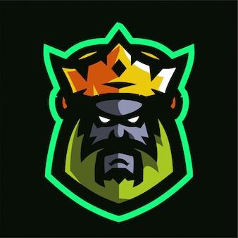 Logotipo do king mascot game
