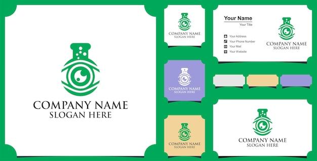 Logotipo do laboratório de olho e cartão de visita