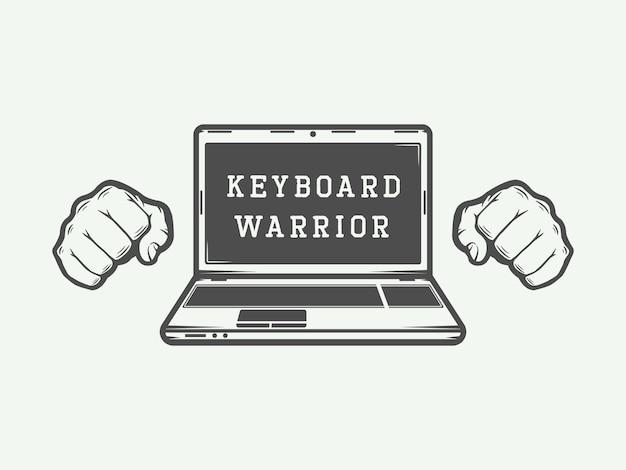 Logotipo do laptop, emblema