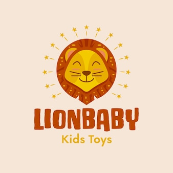 Logotipo do leão bebê fofo