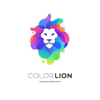 Logotipo do leão colorido
