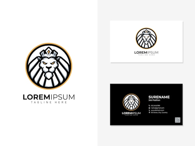 Logotipo do leão e cartão de visita