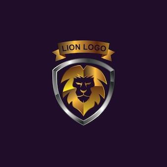 Logotipo do leão e escudo