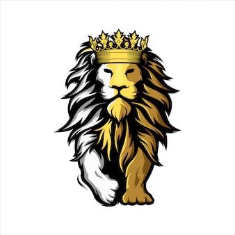 Logotipo do leão mascote impressionante