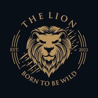 Logotipo do leão mascote incrível