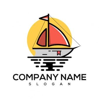 Logotipo do livro de barco