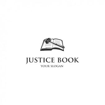 Logotipo do livro de justiça