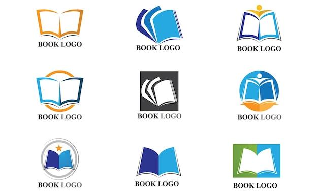 Logotipo do livro educacional e modelo de símbolo