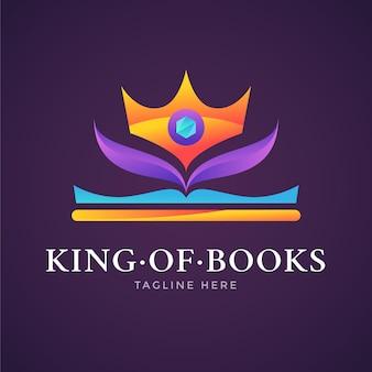 Logotipo do livro gradiente colorido