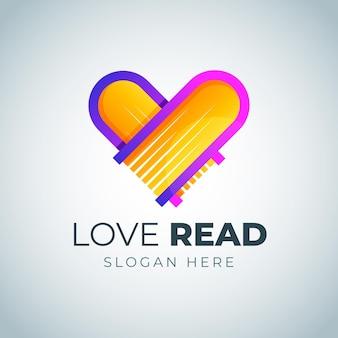 Logotipo do livro gradiente criativo