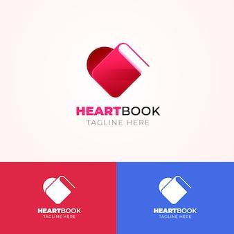 Logotipo do livro gradiente em cores diferentes