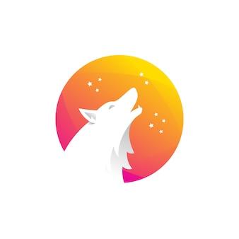 Logotipo do lobo gradiente