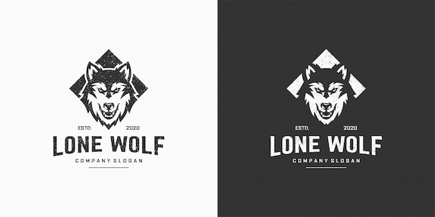 Logotipo do lobo solitário
