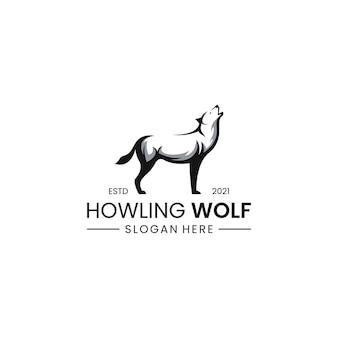 Logotipo do lobo uivante