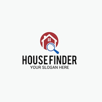 Logotipo do localizador de casa