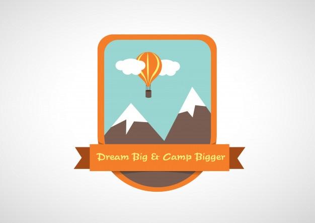 Logotipo do logotipo da montanha